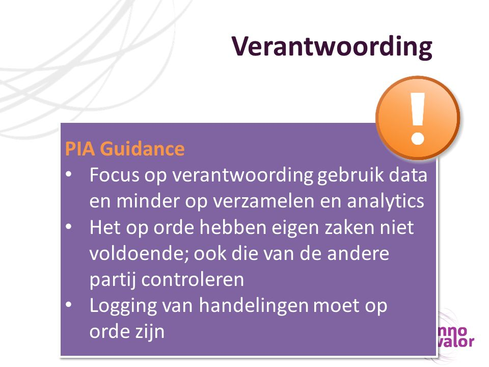 Verantwoording PIA Guidance