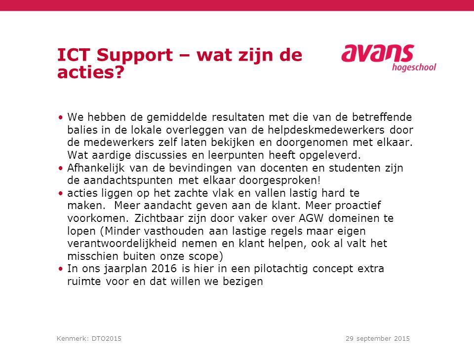 ICT Support – wat zijn de acties