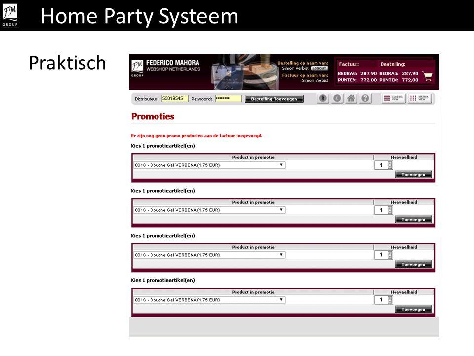 Home Party Systeem Praktisch