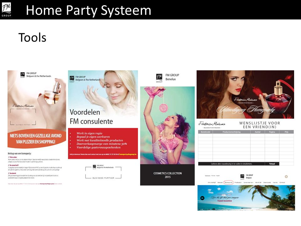 Home Party Systeem Tools