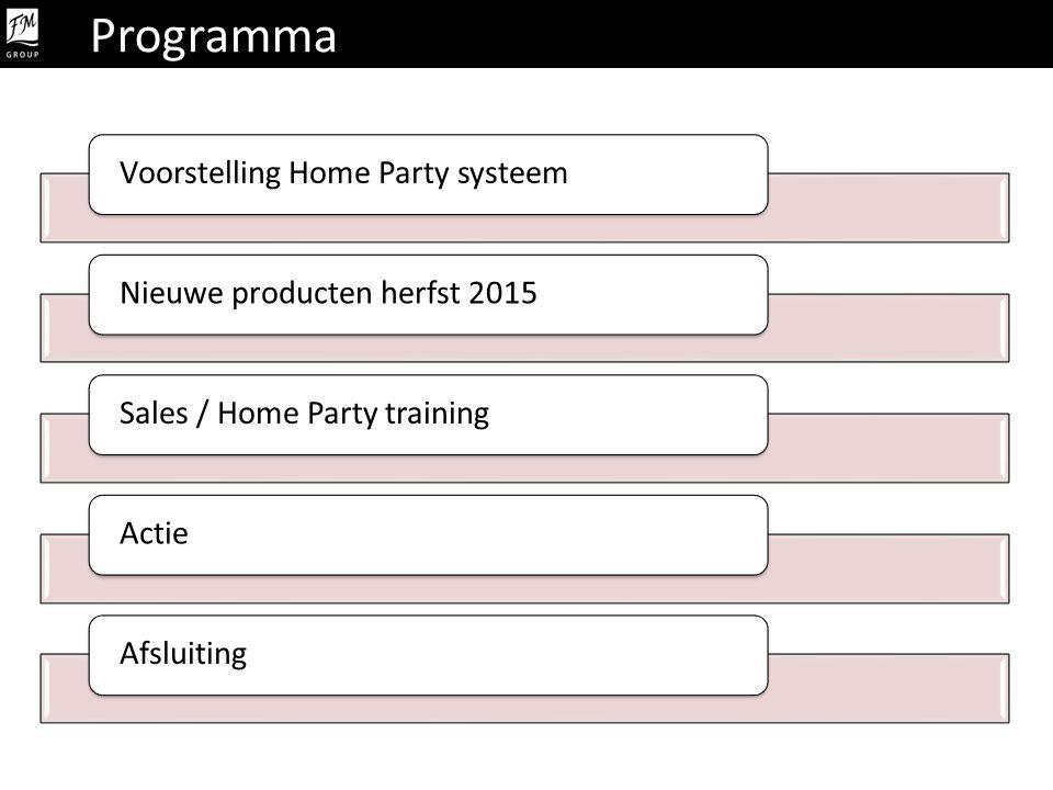 Programma Voorstelling Home Party systeem Nieuwe producten herfst 2015