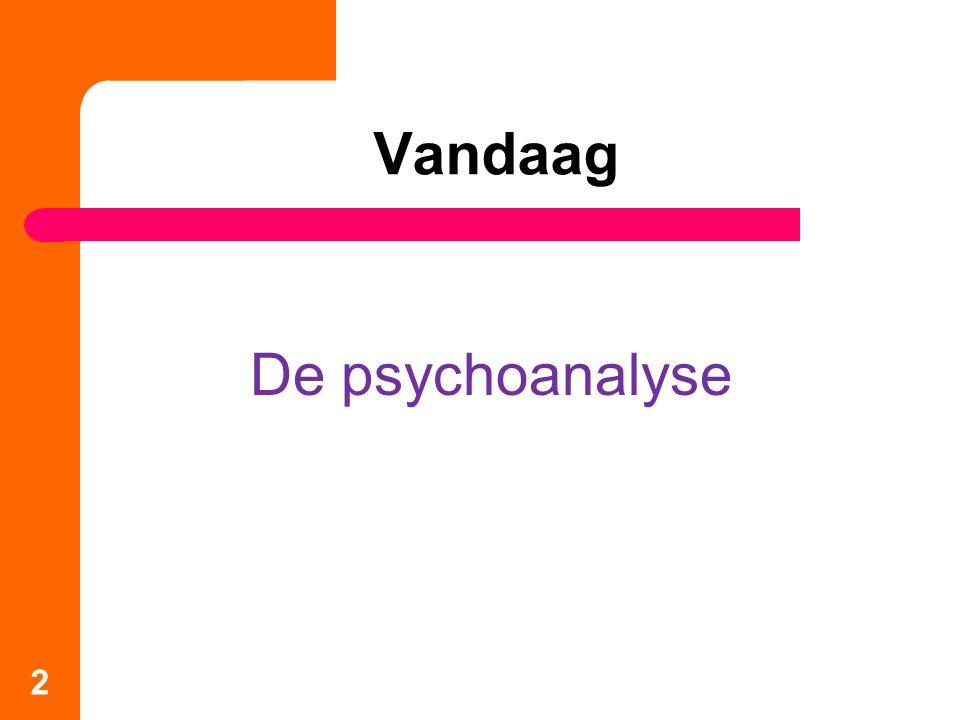 Vandaag De psychoanalyse