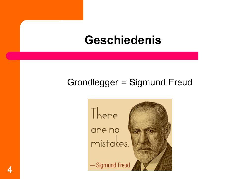 Grondlegger = Sigmund Freud