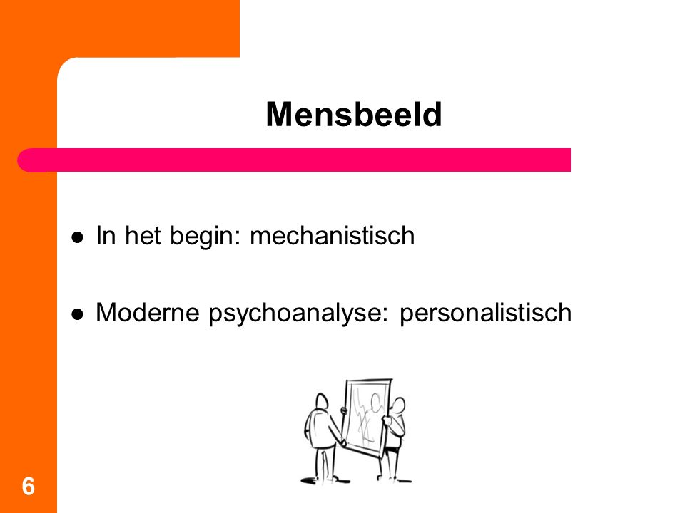 Mensbeeld In het begin: mechanistisch