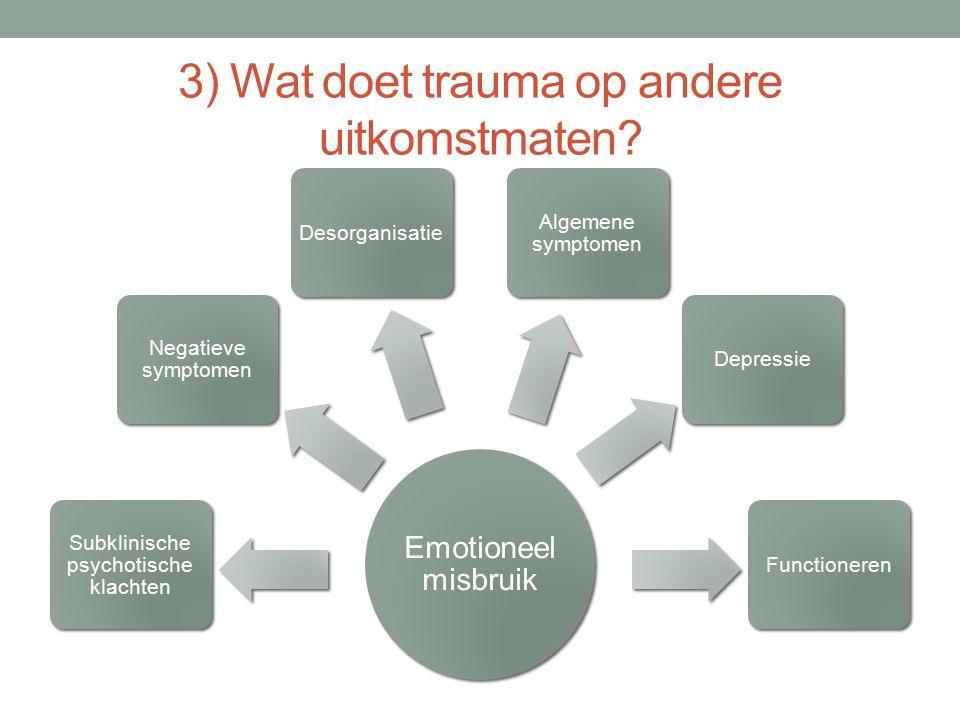 3) Wat doet trauma op andere uitkomstmaten