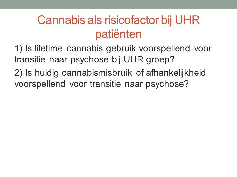 Cannabis als risicofactor bij UHR patiënten