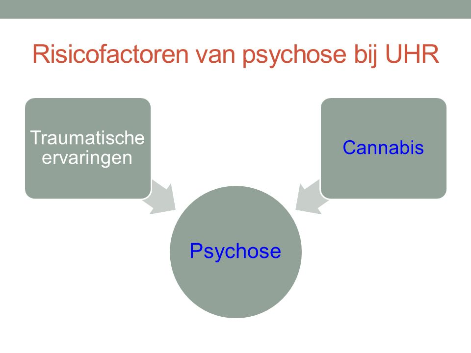 Risicofactoren van psychose bij UHR