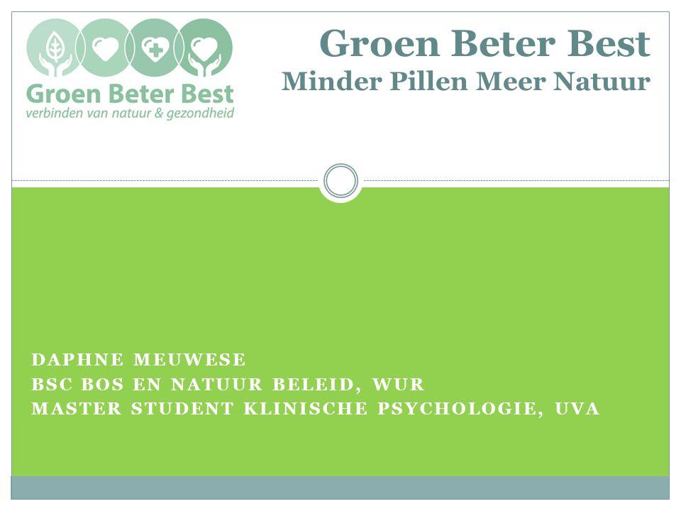 Groen Beter Best Minder Pillen Meer Natuur