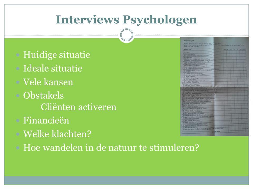 Interviews Psychologen