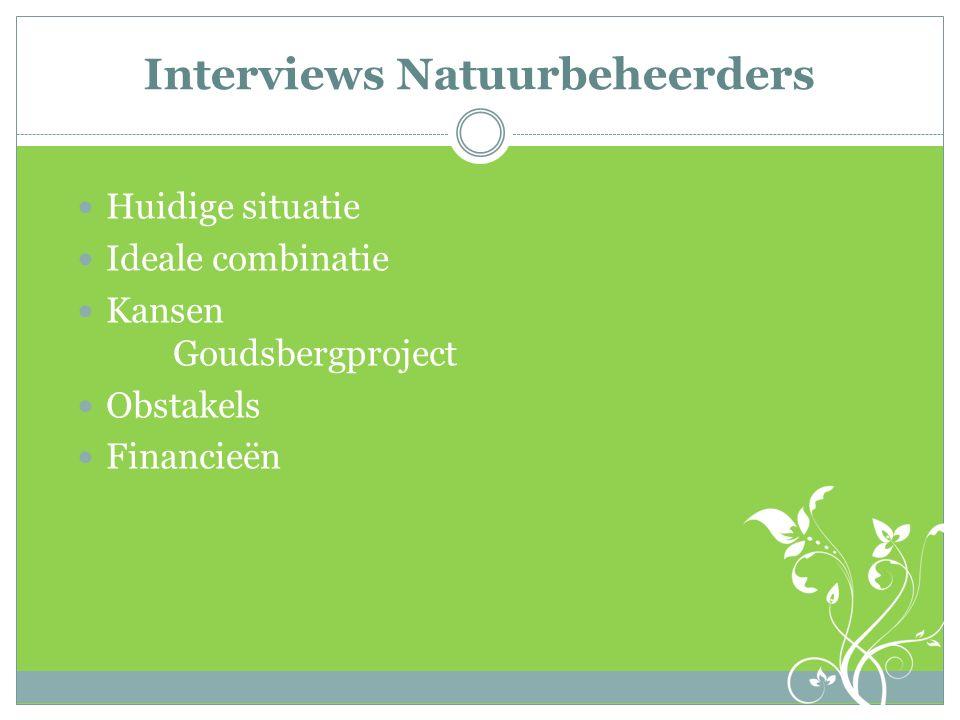 Interviews Natuurbeheerders