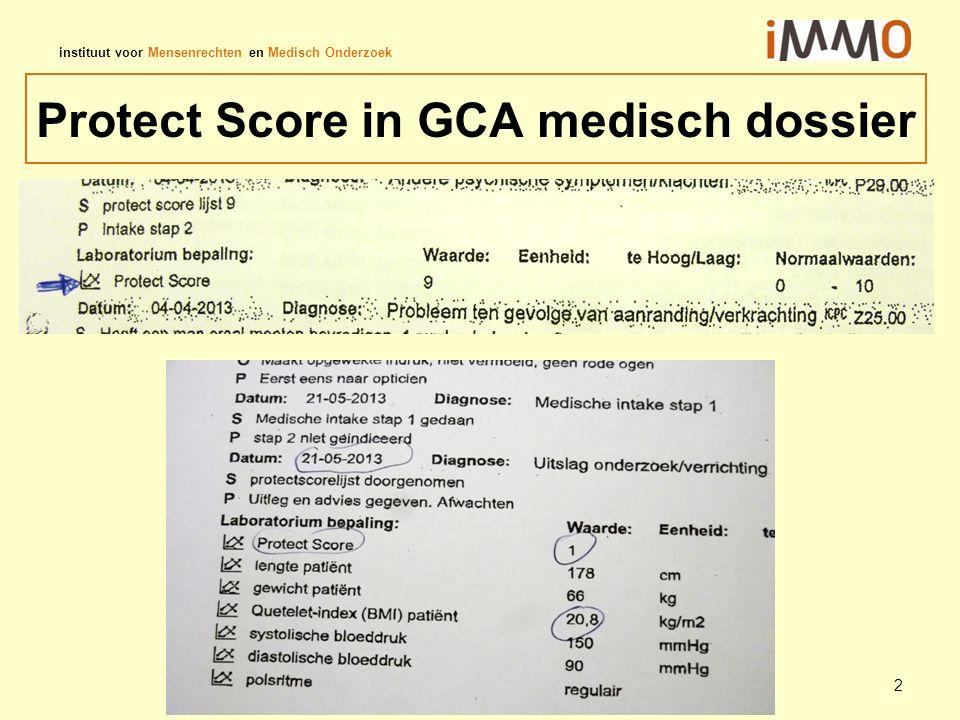 Protect Score in GCA medisch dossier