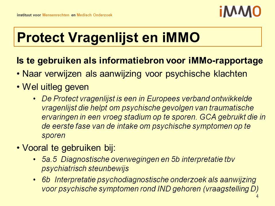 Protect Vragenlijst en iMMO