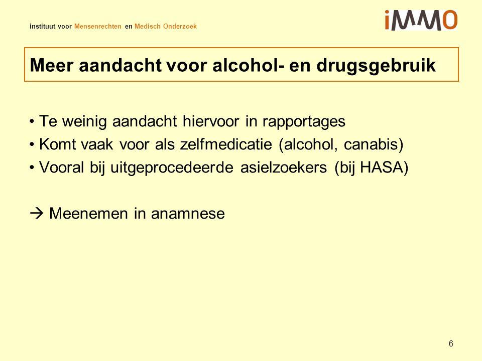 Meer aandacht voor alcohol- en drugsgebruik
