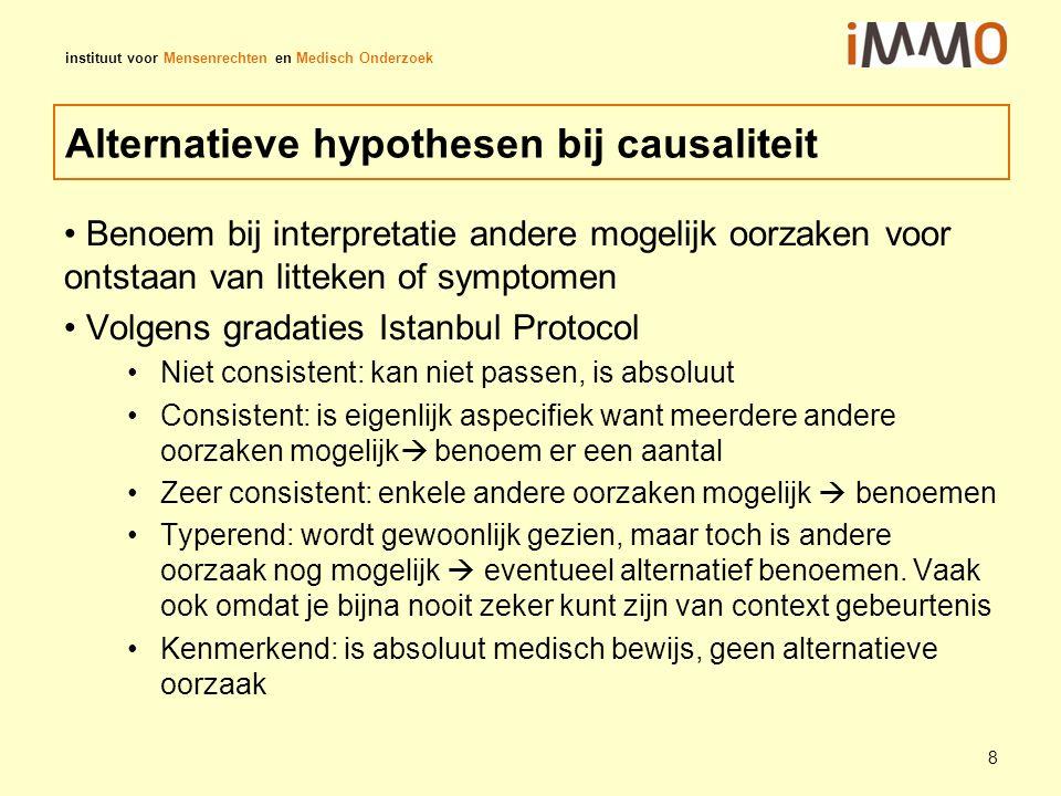 Alternatieve hypothesen bij causaliteit