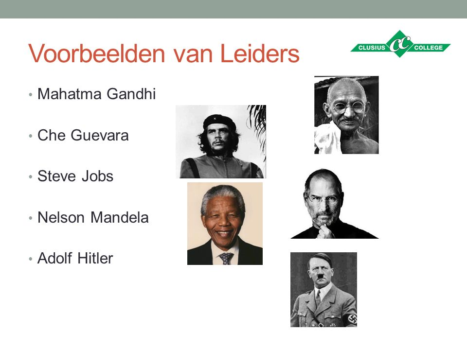 Voorbeelden van Leiders