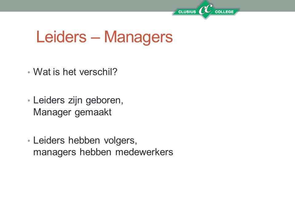 Leiders – Managers Wat is het verschil