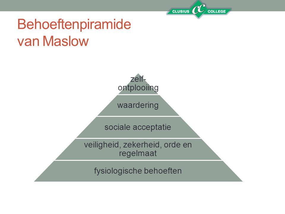 Behoeftenpiramide van Maslow