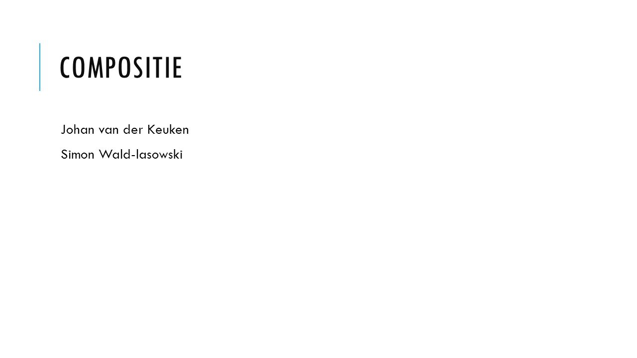 Compositie Johan van der Keuken Simon Wald-lasowski