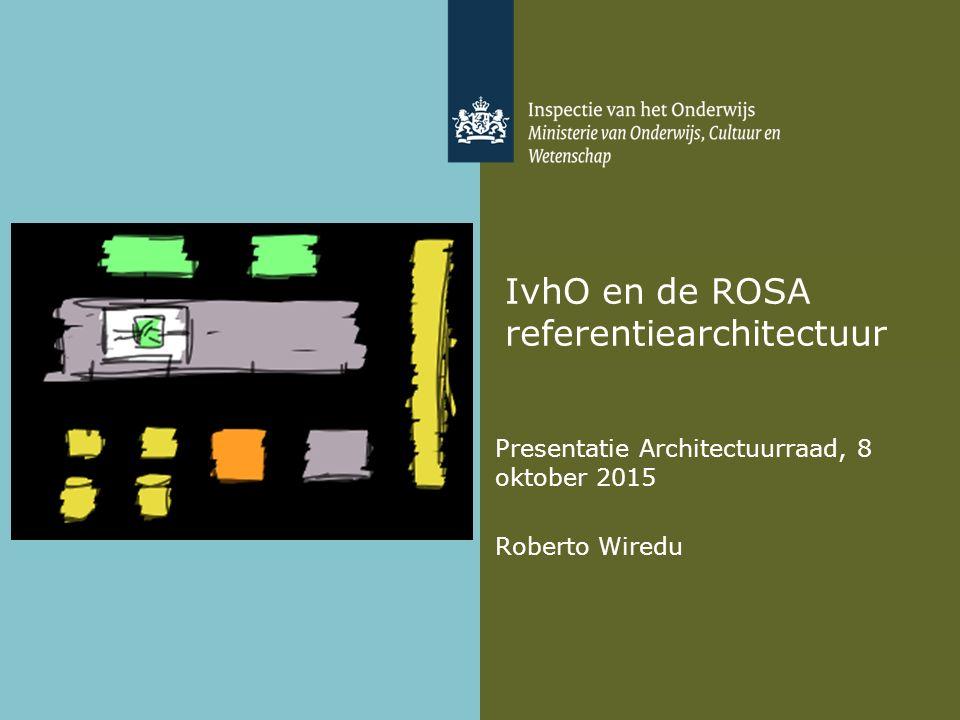 IvhO en de ROSA referentiearchitectuur