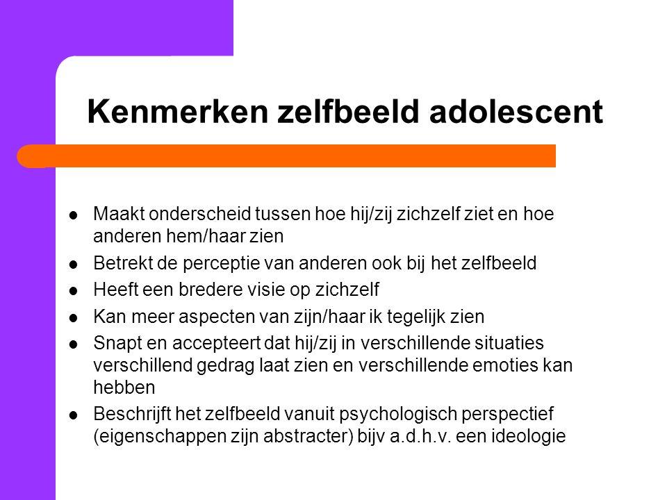 Kenmerken zelfbeeld adolescent