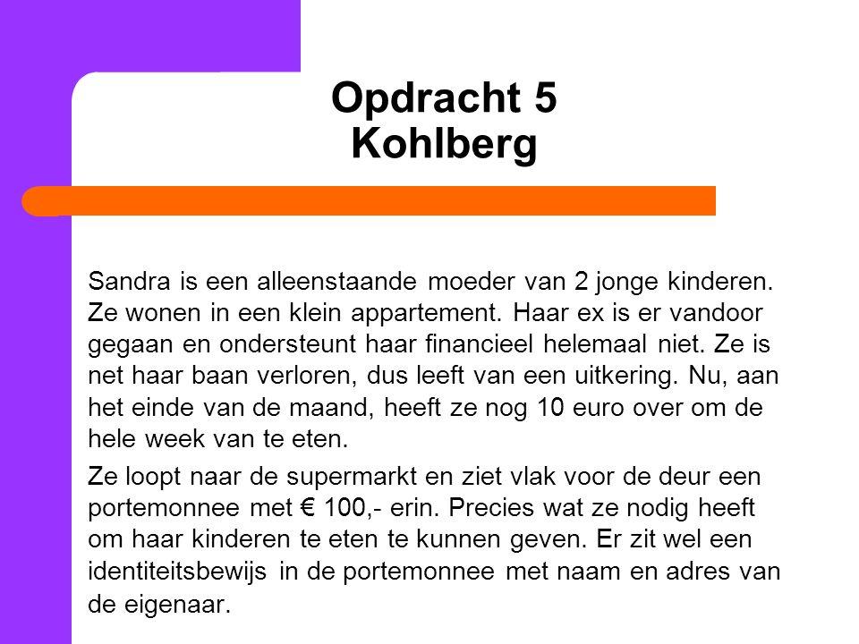 Opdracht 5 Kohlberg