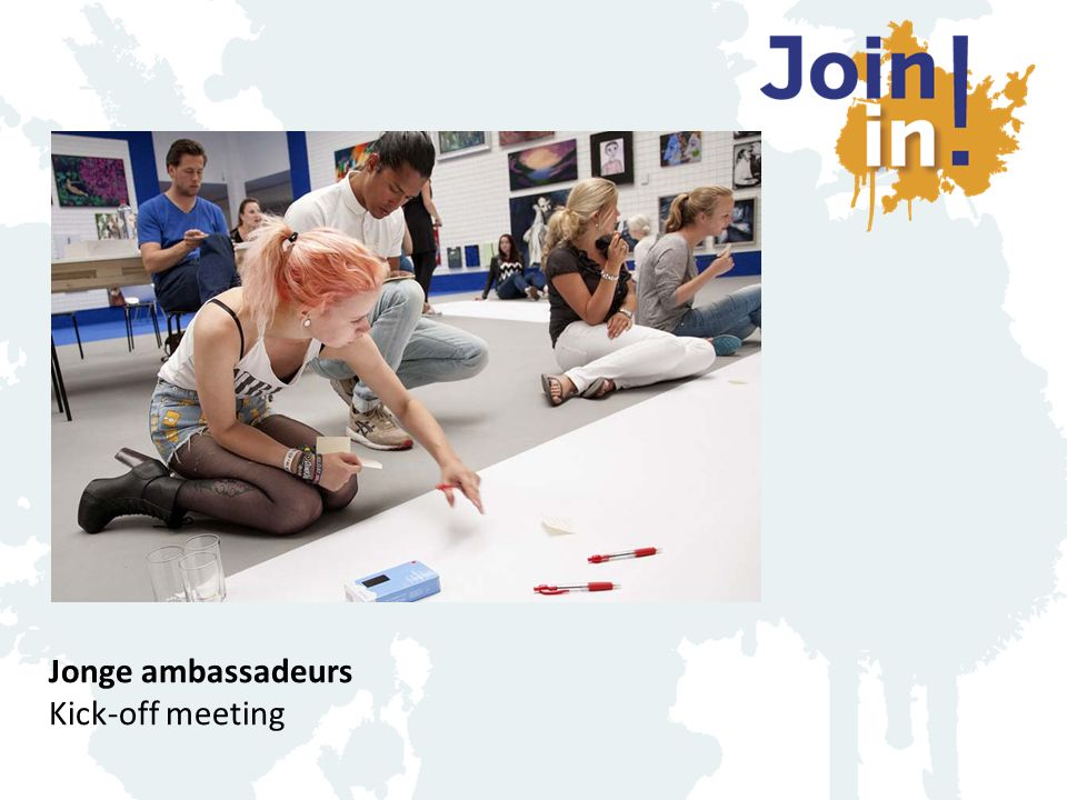 Jonge ambassadeurs Kick-off meeting