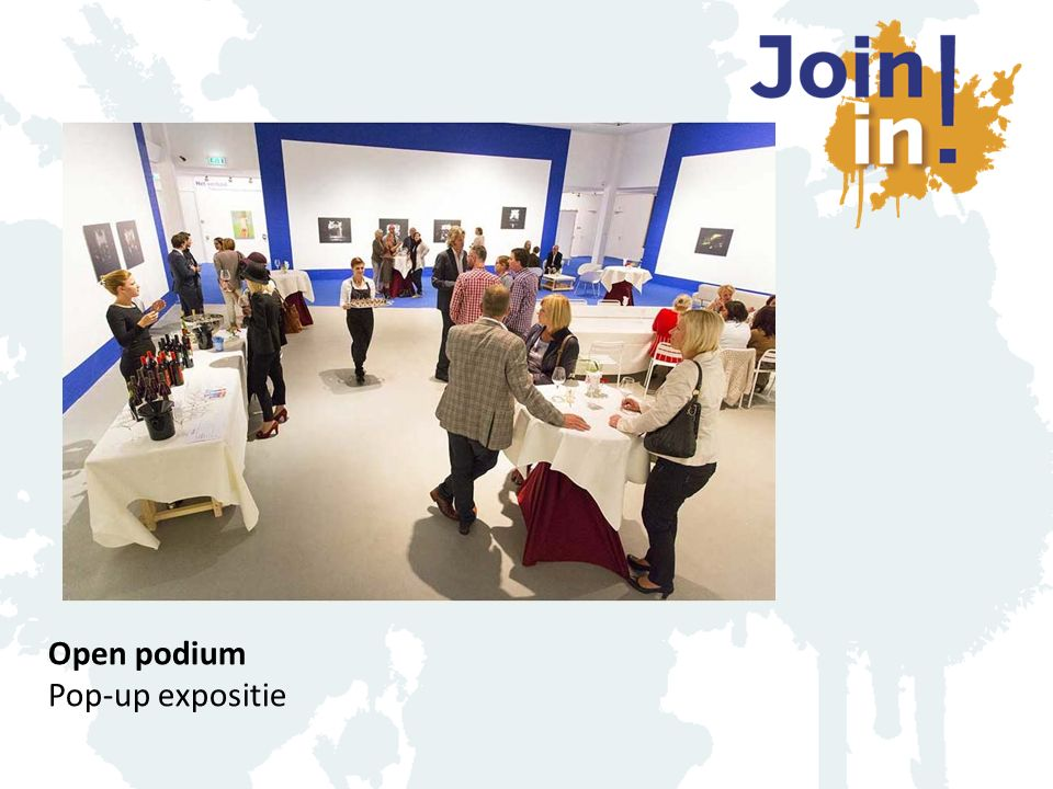 Open podium Pop-up expositie