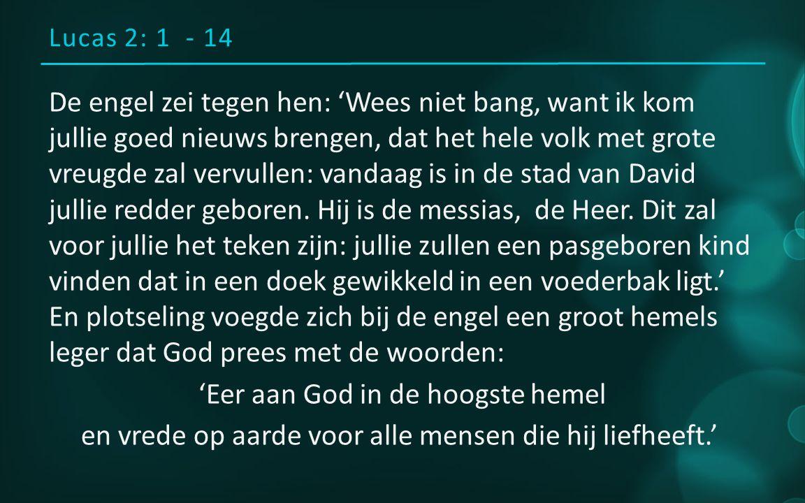 Lucas 2: 1 - 14