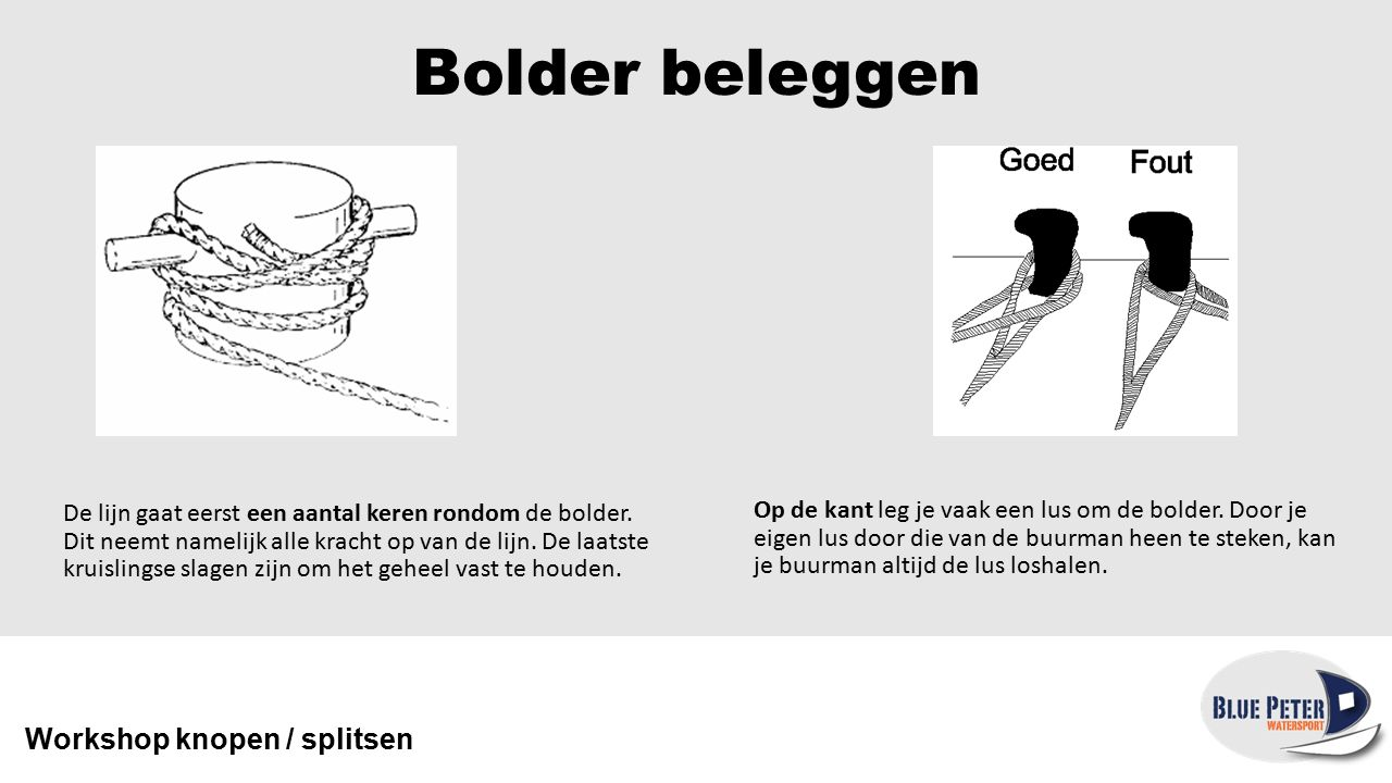 Bolder beleggen Workshop knopen / splitsen