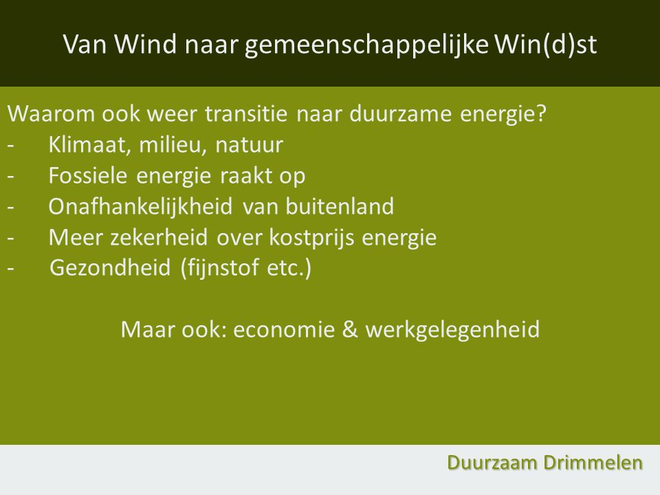 Van Wind naar gemeenschappelijke Win(d)st