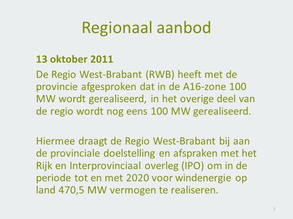 Regionaal aanbod 13 oktober 2011.