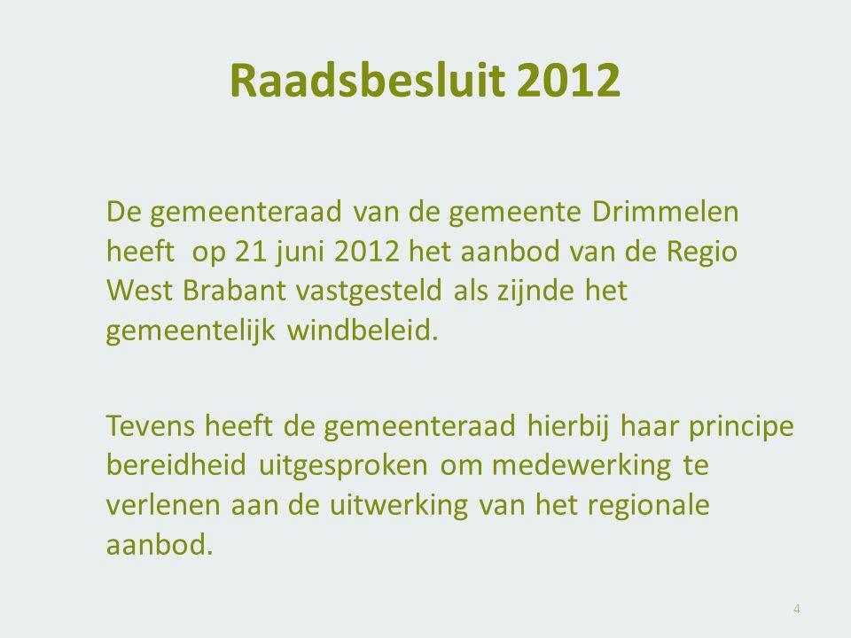 Raadsbesluit 2012