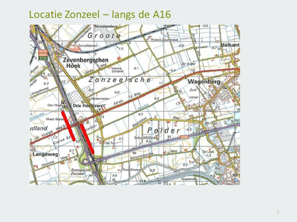 Locatie Zonzeel – langs de A16
