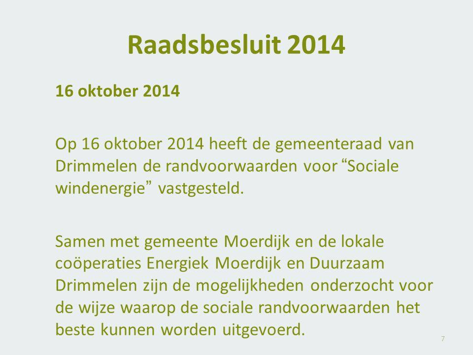 Raadsbesluit 2014