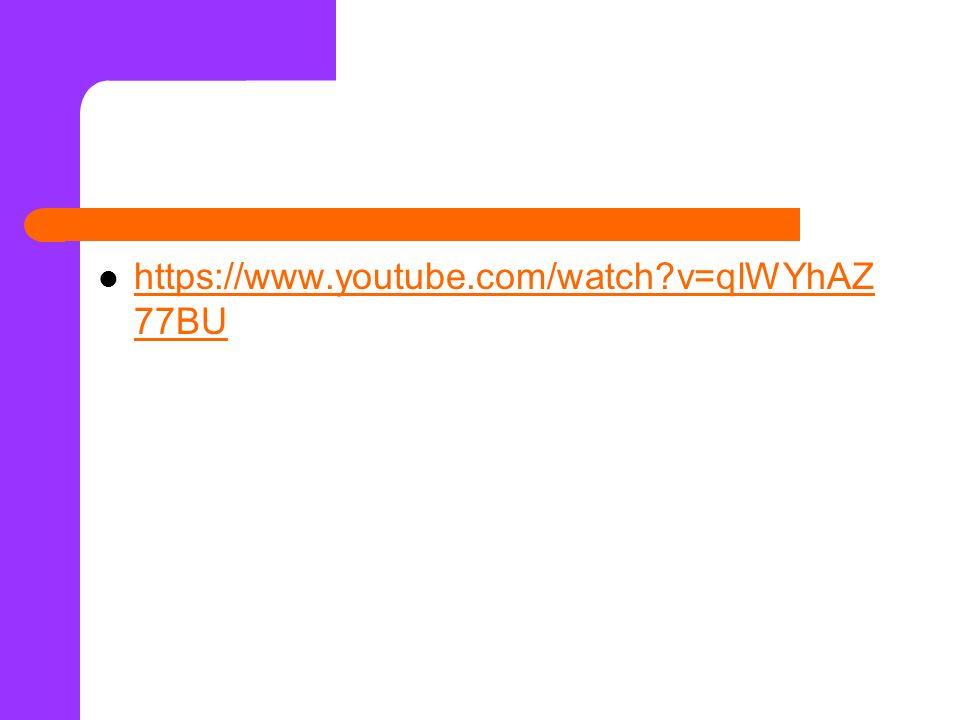 https://www.youtube.com/watch v=qlWYhAZ77BU