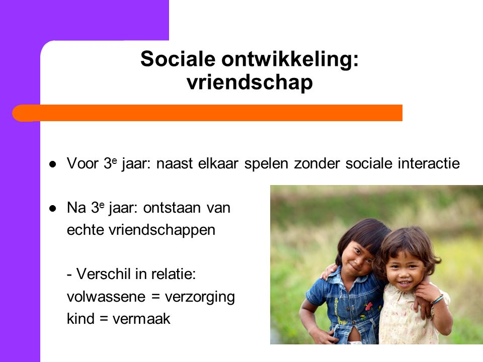Sociale ontwikkeling: vriendschap