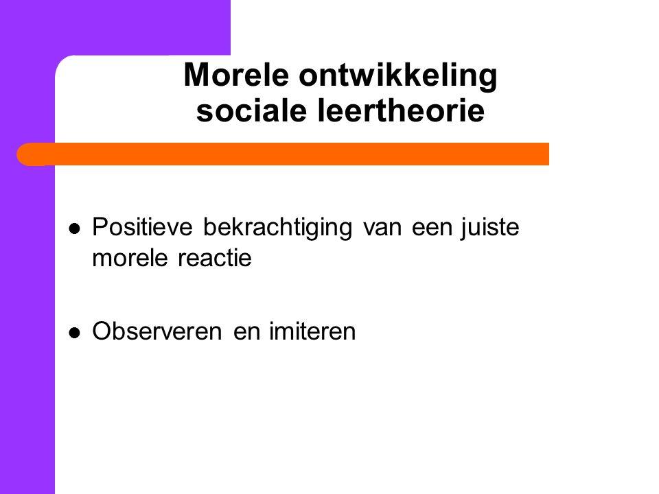 Morele ontwikkeling sociale leertheorie