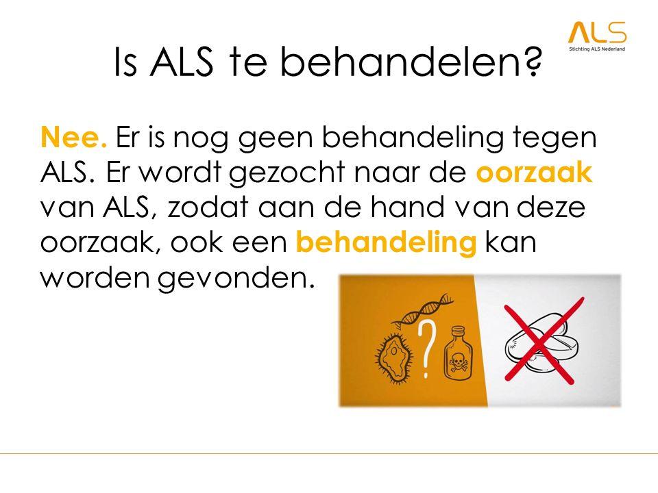 Is ALS te behandelen