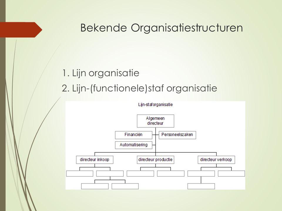 Bekende Organisatiestructuren