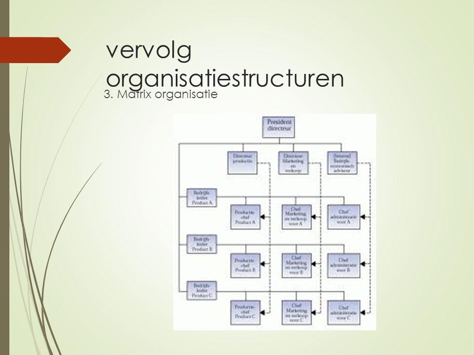 vervolg organisatiestructuren