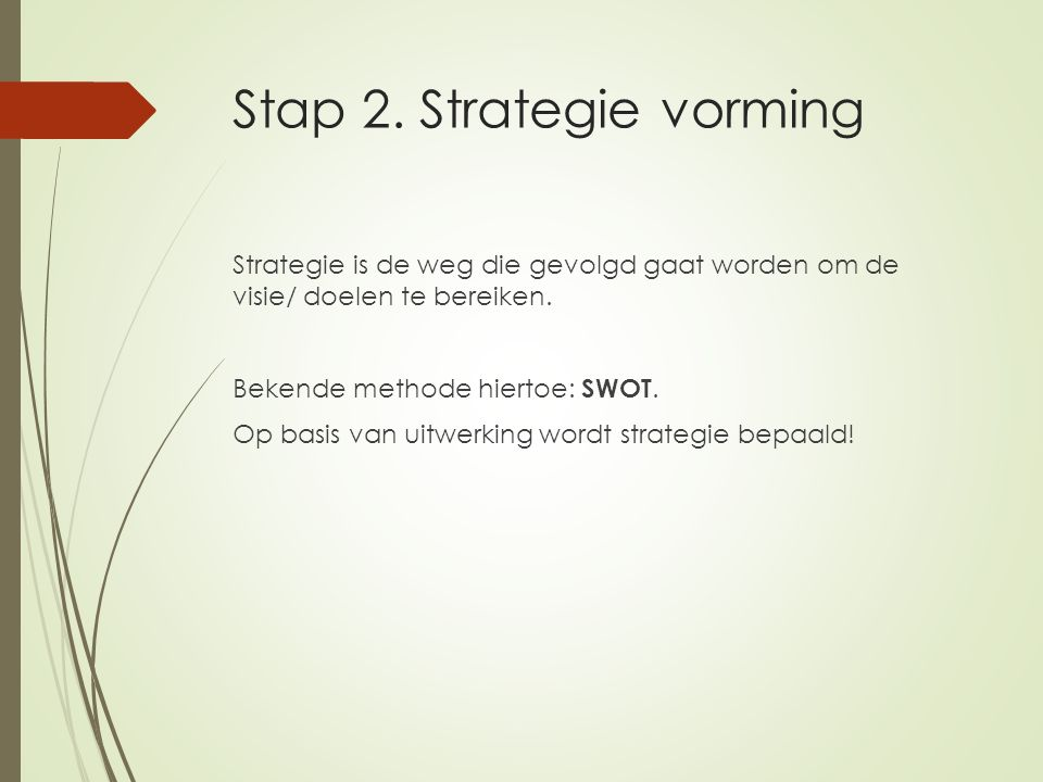 Stap 2. Strategie vorming
