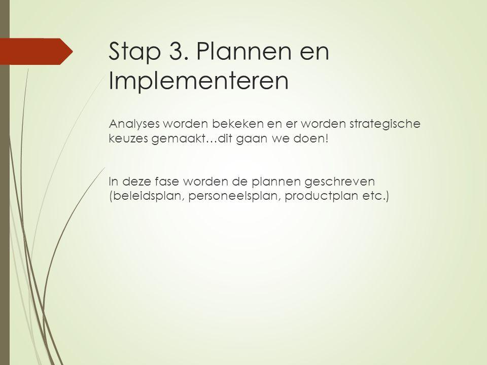 Stap 3. Plannen en Implementeren