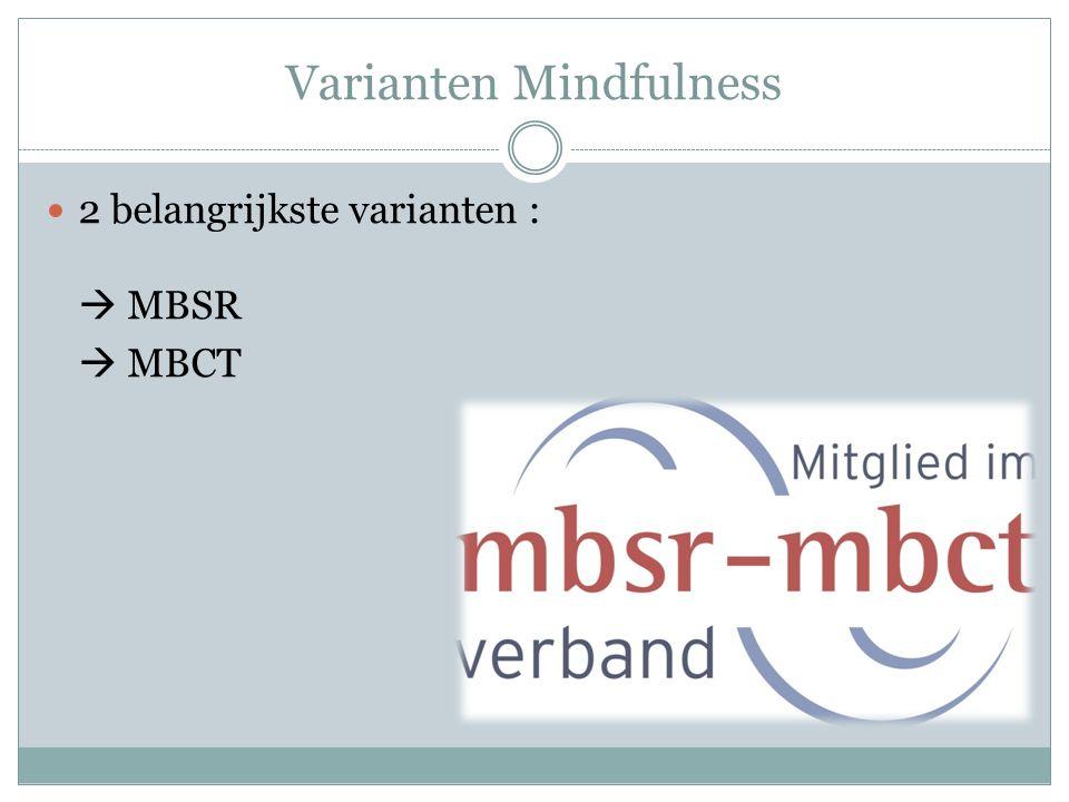 Varianten Mindfulness