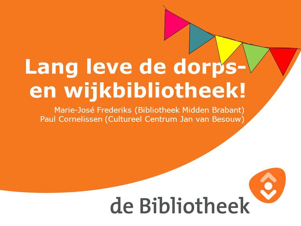 Lang leve de dorps- en wijkbibliotheek!