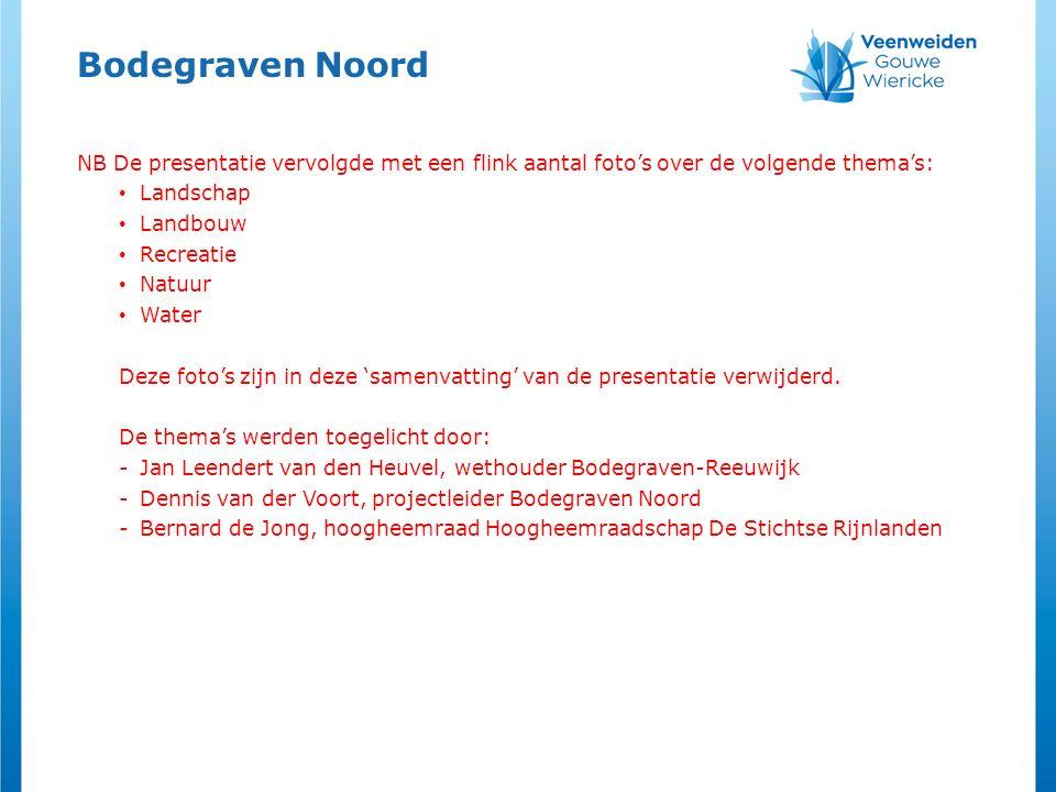 Bodegraven Noord NB De presentatie vervolgde met een flink aantal foto's over de volgende thema's: Landschap.