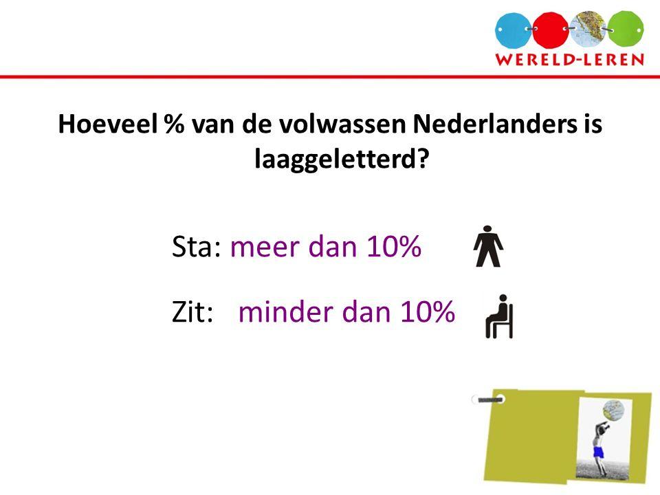 Hoeveel % van de volwassen Nederlanders is laaggeletterd