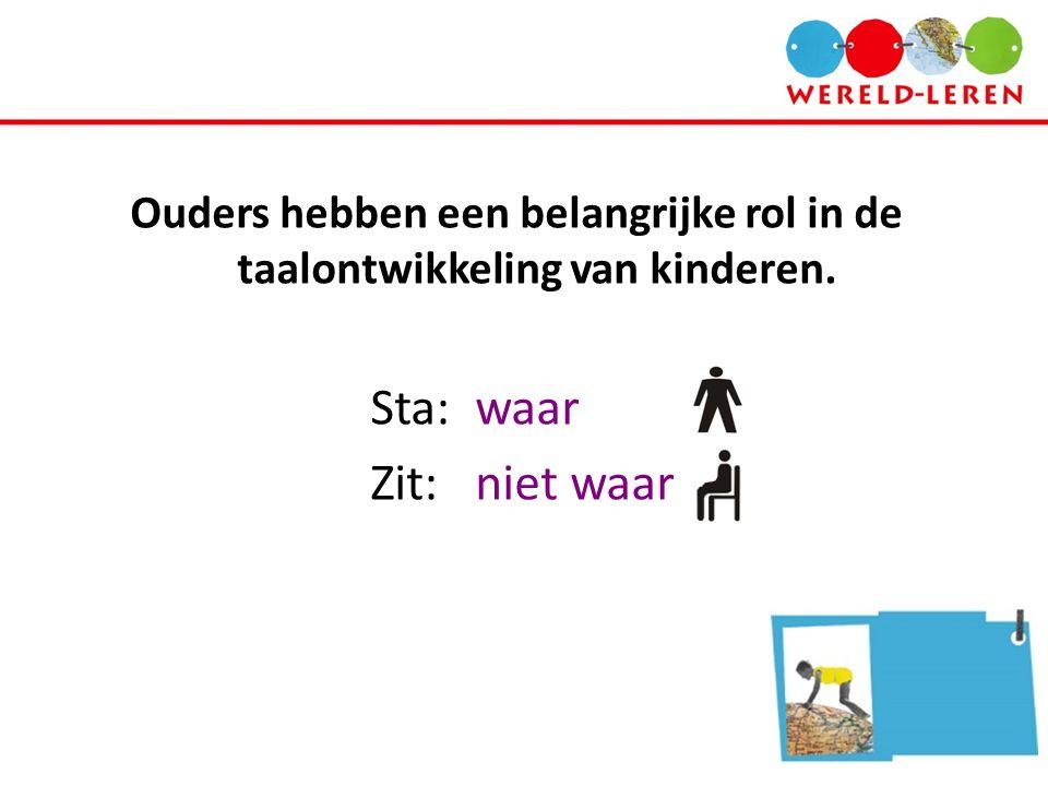Ouders hebben een belangrijke rol in de taalontwikkeling van kinderen.