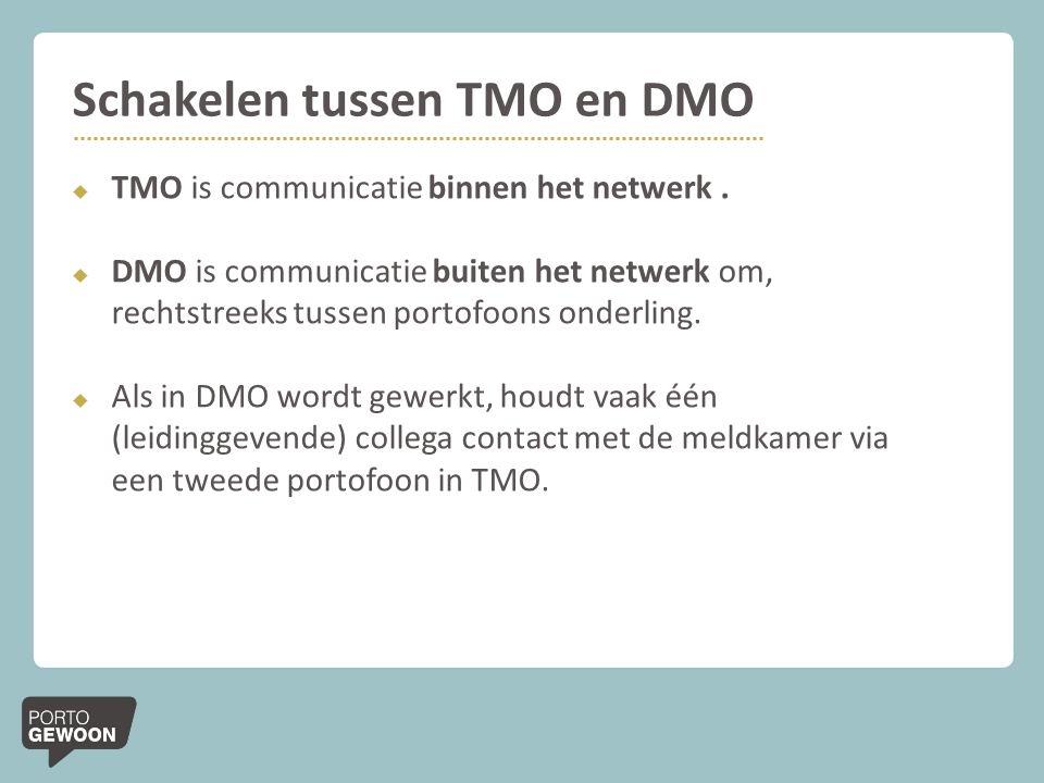 Schakelen tussen TMO en DMO