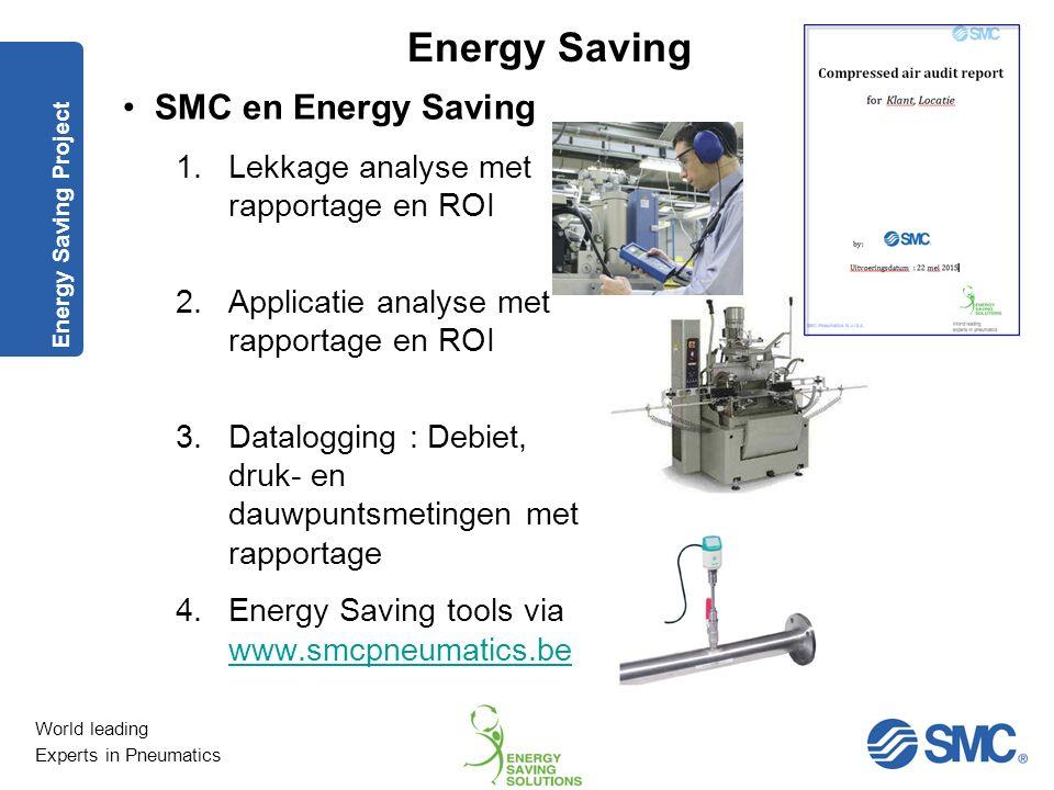SMC en Energy Saving Lekkage analyse met rapportage en ROI