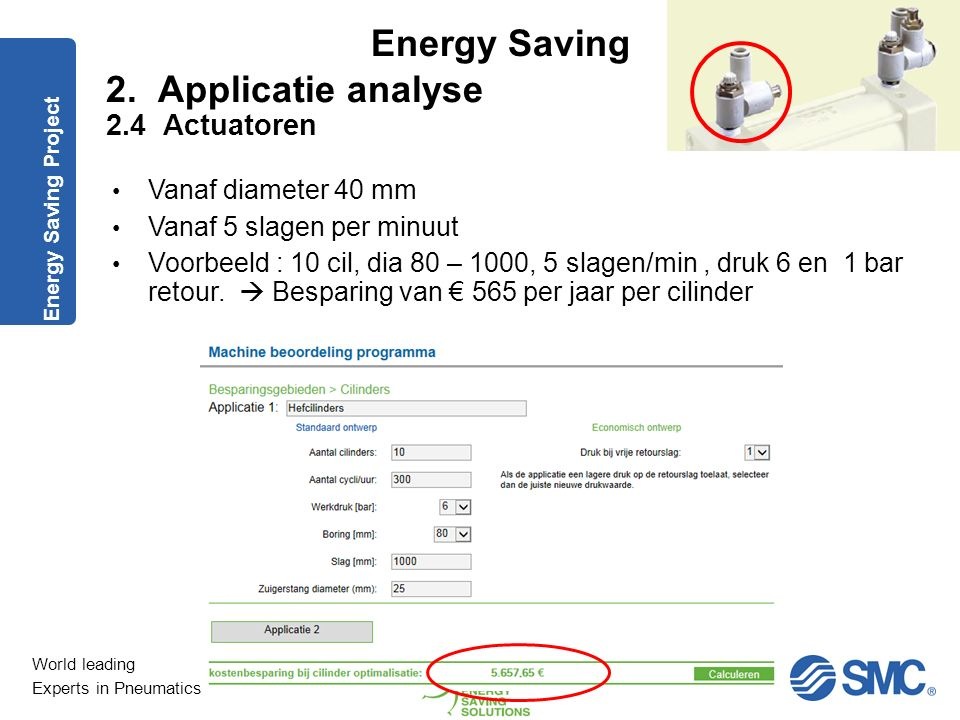 2. Applicatie analyse 2.4 Actuatoren